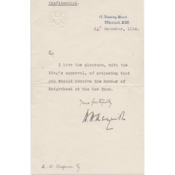 Herbert Henry Asquith PM signed authentic genuine signature letter UACC AFTAL
