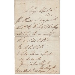 Duke of Wellington, Arthur Wellesley signed authentic genuine signature letter