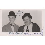 Stan Laurel and Oliver Hardy signed authentic genuine signature photo