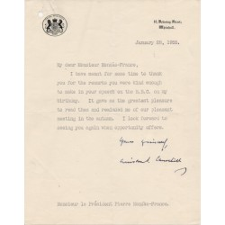 SOLD Winston Churchill signed authentic genuine signature letter UACC AFTAL