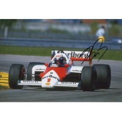 Alain Prost F1 McLaren world champion signed genuine signature photo COA UACC