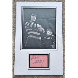 Alex Harvey signed authentic genuine signature autograph display COA AFTAL UACC