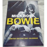 David Bowie Mick Rock  signed authentic genuine signature calender UACC AFTAL