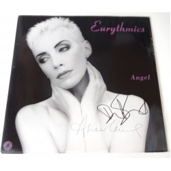 Eurythmics Dave Stewart Annie Lennox signed authentic genuine signature vinyl album UACC AFTAL