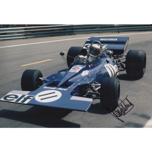 Jackie Stewart F1 Tyrrell world champion signed genuine signature photo COA AFTAL UACC
