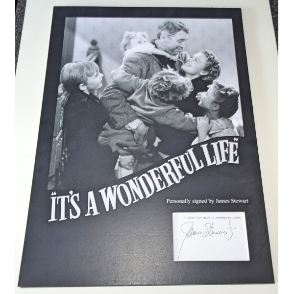 James 'Jimmy' Stewart Wonderfull life signed authentic genuine signature photo display
