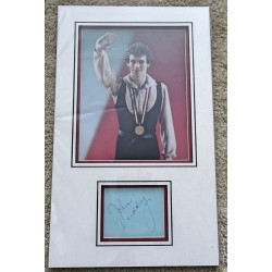 John Curry Ice Dancing Olympics signed authentic genuine signature autograph display
