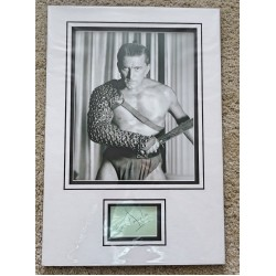 Kirk Douglas signed authentic genuine signature autograph display 2 COA AFTAL UACC