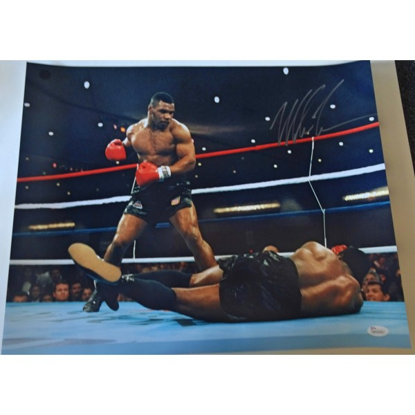 Mike Tyson boxing signed authentic genuine signature large photo UACC AFTAL