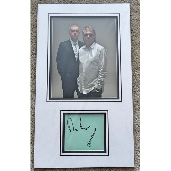 Pet Shop Boys Neil Tennant Chris Lowe authentic genuine signature autographs COA AFTAL