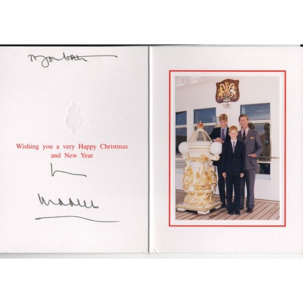 Prince Charles genuine authentic signed autograph card COA UACC RACC