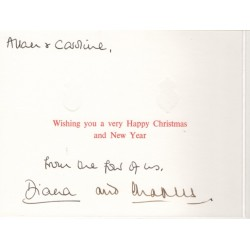 Princess Diana and Prince Charles genuine authentic autograph signature Christmas card