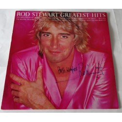 "Rod Stewart authentic genuine signature signed 12"" vinyl record sleeve"