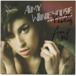 SOLD Amy Winehouse signed authentic genuine signature record UACC AFTAL