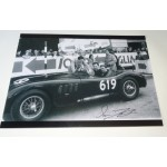 Stirling Moss Norman Dewis large signed authentic genuine signature photo UACC AFTAL
