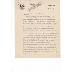 Winston Churchill signed authentic genuine signature letter UACC AFTAL