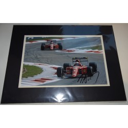 Alain Prost F1 Ferrari signed genuine signature authentic photo display
