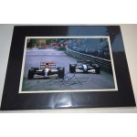 Nigel Mansell Williams F1 signed genuine signature authentic photo display