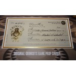 Harry Potter authentic genuine Gringotts Bank Cheque display