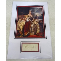 Queen Victoria signed authentic genuine signature autograph display