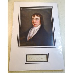 William Wordsworth genuine authentic signed photo display
