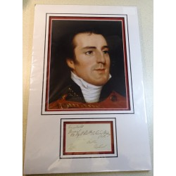 Duke of Wellington Arthur Wellesley genuine authentic signed  display