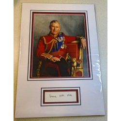 Prince Charles genuine authentic autograph signature photo display