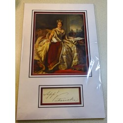 Queen Victoria genuine authentic autograph signature photo display
