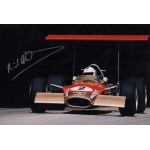Richard Attwood Lotus Ford 49 signed genuine signature authentic photo