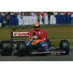 Nigel Mansell Williams F1 with Senna signed genuine signature authentic photo