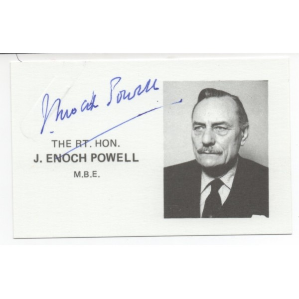 Enoch Powell Politics authentic genuine signed autograph photo card