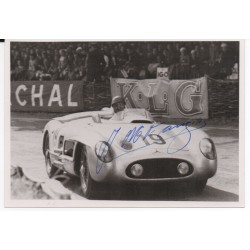 Juan Fangio Mercedes genuine authentic original signed photo