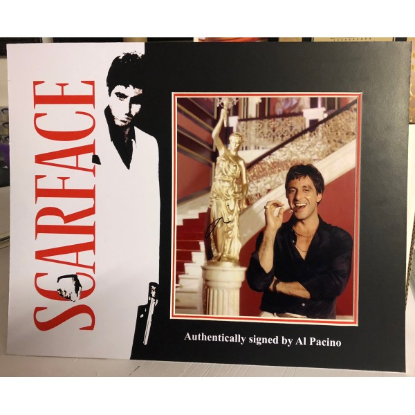Al Pacino Scarface signed genuine signature authentic photo display