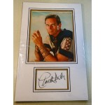 Charlton Heston signed genuine signature autograph display RACC