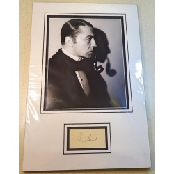 Clive Brook Sherlock Holmes signed genuine signature autograph display