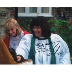 Dawn French Vicar of Dibley authentic genuine signed colour photo 2