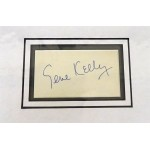 Gene Kelly signed authentic genuine signature autograph display