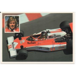 James Hunt McLaren F1 genuine authentic original signed postcard