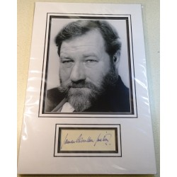 James Robertson Justice signed genuine signature autograph display RACC
