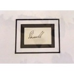 Lord John Russell PM signed genuine signature autograph display