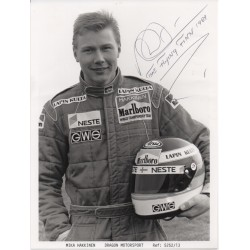 Mika Hakkinen McLaren F1 genuine authentic original signed photo 2