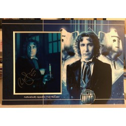 Paul McGann Doctor Who signed genuine signature authentic photo display