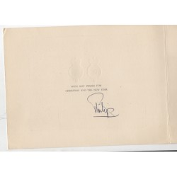 Prince Philip signed genuine signature autograph Christmas card RACC AFTAL