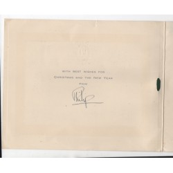 Prince Philip signed genuine signature autograph Christmas card RACC UACC