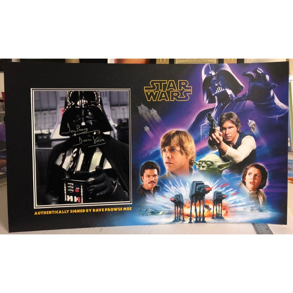 Dave Prowse Star Wars signed genuine signature authentic photo display
