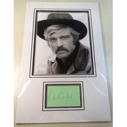 Robert Redford signed genuine signature autograph display RACC