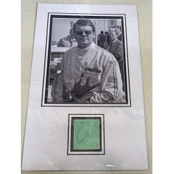 Roger Clarke Rally champion signed genuine signature autograph display