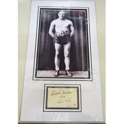 Tommy Farr Boxing signed genuine signature autograph display UACC