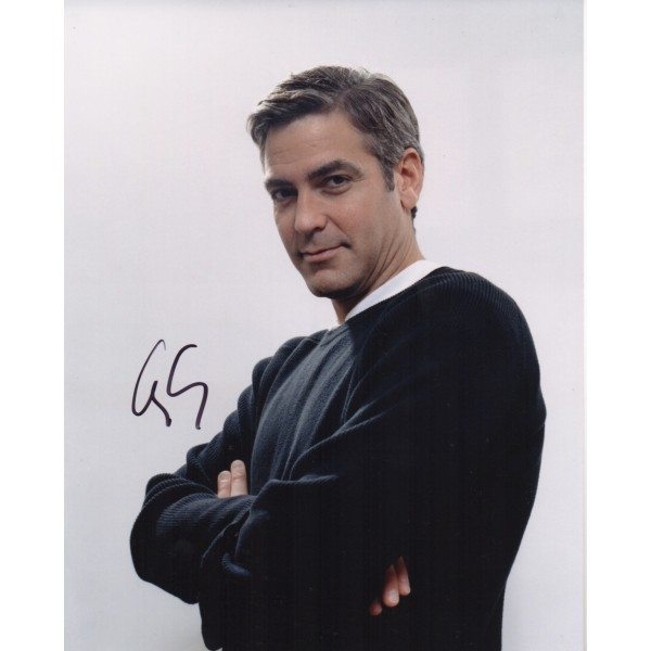 George Clooney authentic signed genuine signature photo COA AFTAL UACC