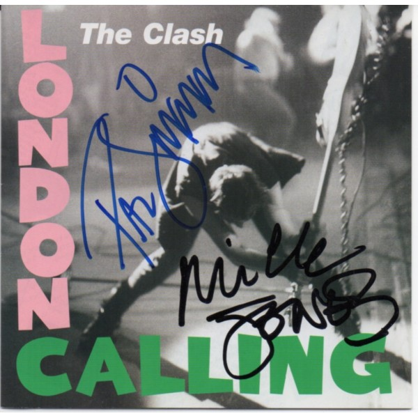 Clash Mick Jones Paul Simonon authentic signed genuine signature CD